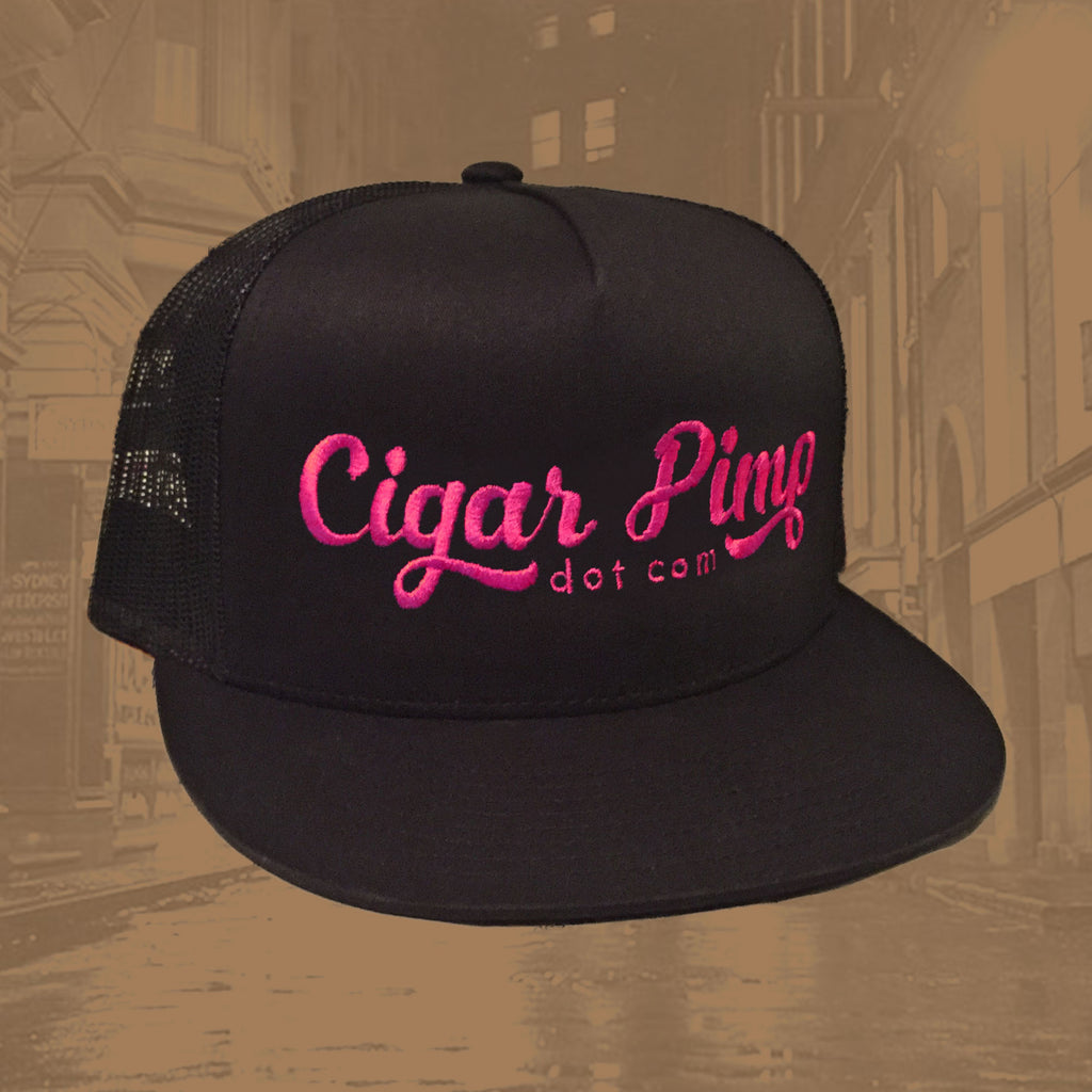 Cigar Pimp Women's Pink Trucker Hat