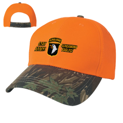 Camo Top Orange Bill 2 Tone Cap