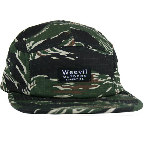 W.O.S.C. 5 Panel Camper Hat // Tiger Camo