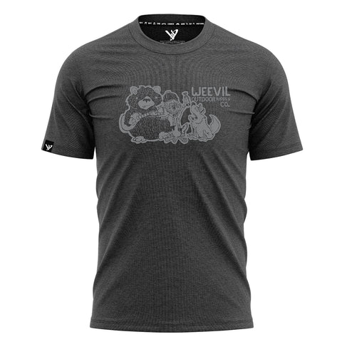 CAMPFIRE FRIENDS T // CHARCOAL GREY