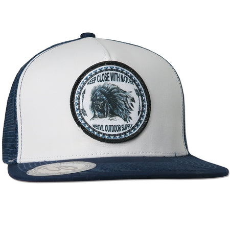 Cherokee Hat // Navy / White