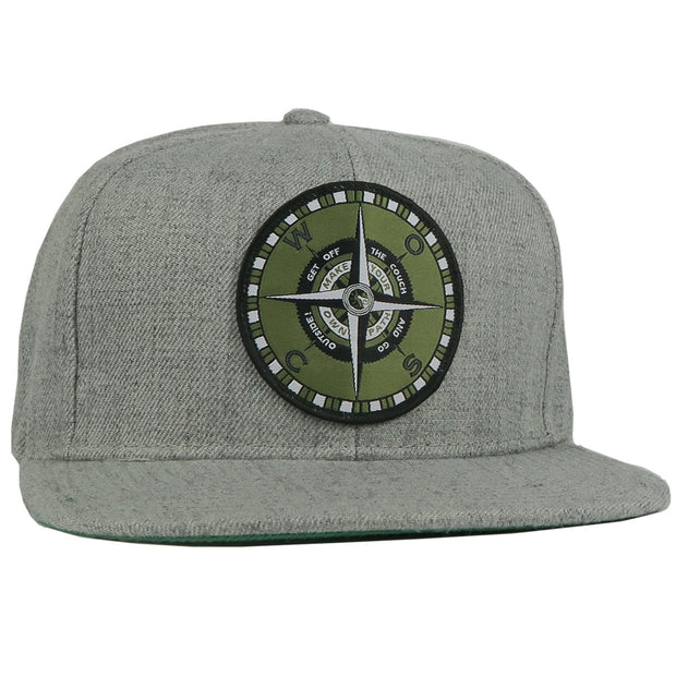 WOSC Compass Hat // Wool Blend // Heather Grey