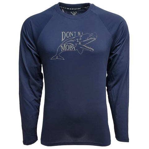 DON'T BE A MOBY T // NAVY BLUE // LS