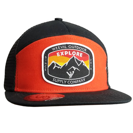 Explore Hat // 7 Panel / Blood Orange
