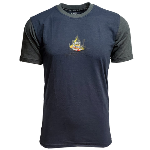 Fire-pit Tee //  Navy/Charcoal