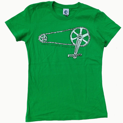 Krank Tee // Womens //  Kelly Green