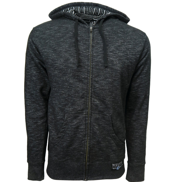 W.O.S.C. Fleece Zip Hoodie //  Black