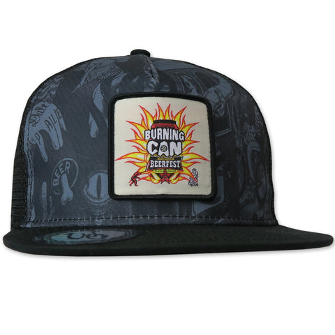 Oskar Blues Burning Can Hat // Monochrome w Patch // Limited Edition