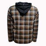 Bender Hoodie //  Brown Plaid
