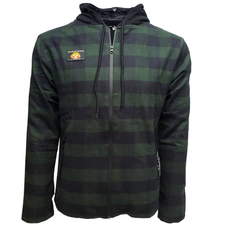 Bender Hoodie //  Green Plaid // New Item*