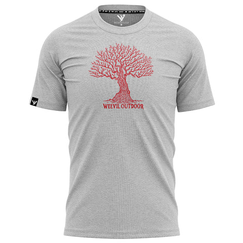 BIG OAK TEE // HEATHER GREY