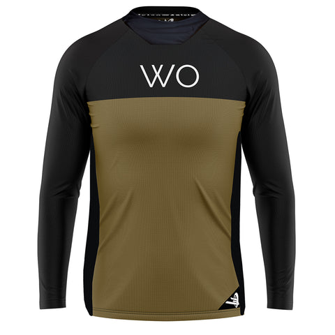 WO FLY JERSEY // BLK/MOSS