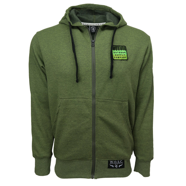 Fleece Zip Hoodie //  Vintage Green