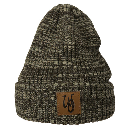 Monogram Beanie // Khaki Mix // Fleece Liner