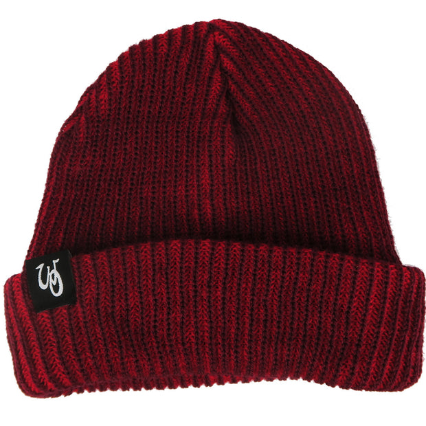 Monogram Cuff Beanie // Maroon // Black Label
