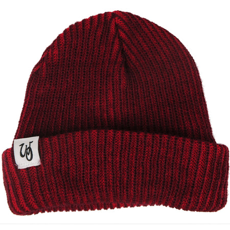 Monogram Cuff Beanie // Maroon // White Label