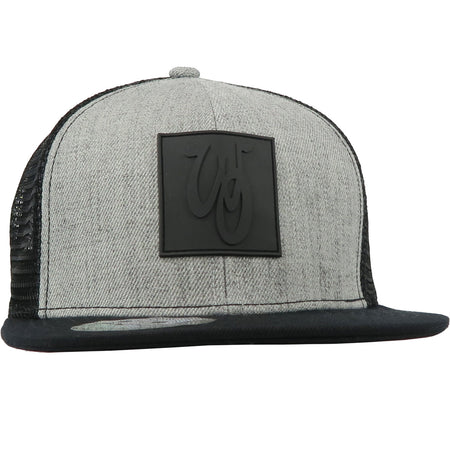 Monogram Hat // Wool Blend // Heather/Black
