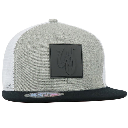 Monogram Hat // Wool Blend // Heather/White