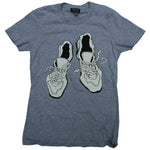 Worn Shoes Tee // Womens // Heather Grey