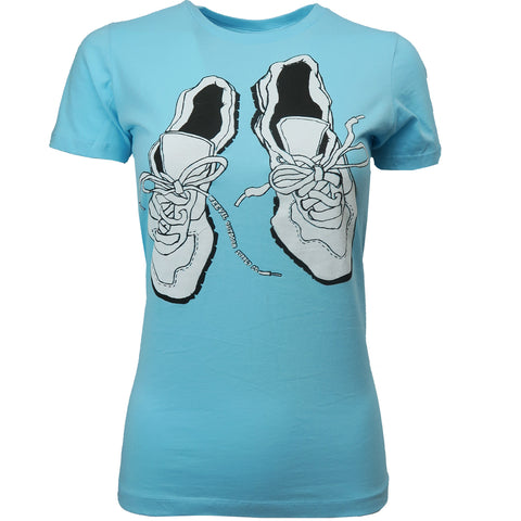 Worn Shoes Tee // Womens // Sea Foam Blue