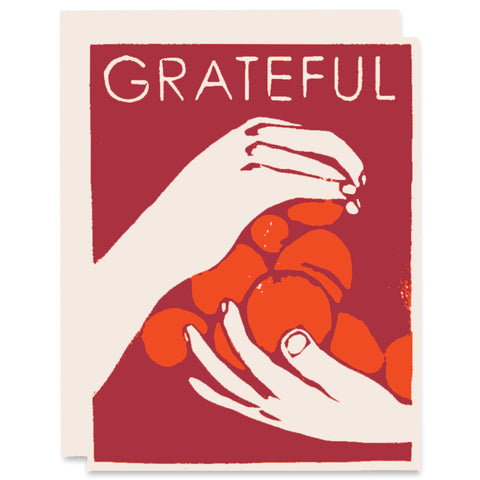 Grateful Hands Letterpress Card