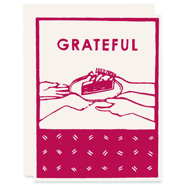 Grateful for Pie Letterpress Card