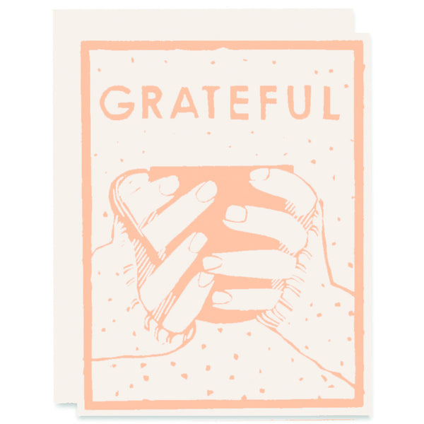 Grateful Cup </h6>Letterpress Card