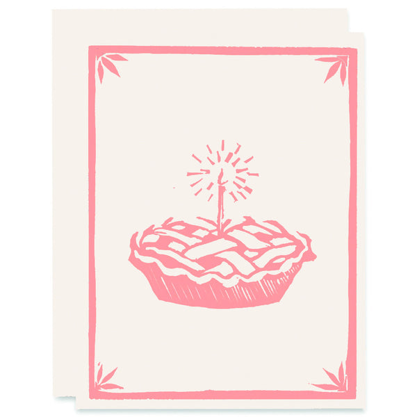 What's Better Than Pie Letterpress Card