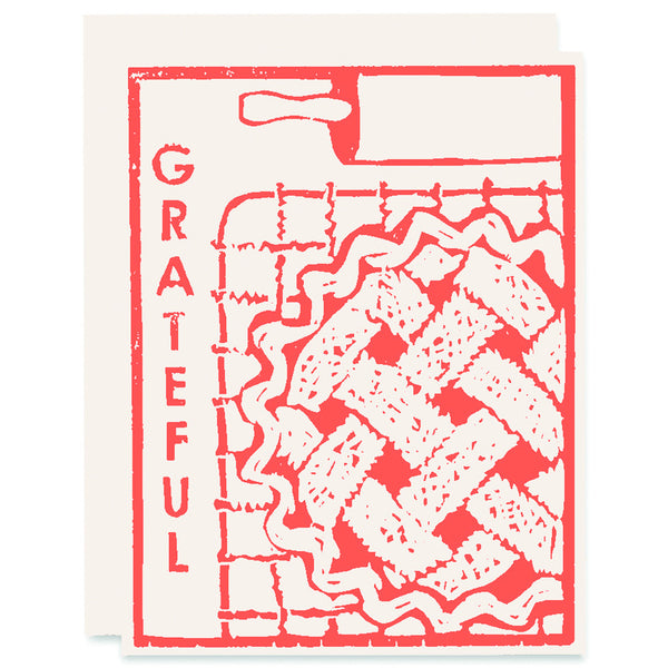 Grate-Full of Pie Letterpress Card