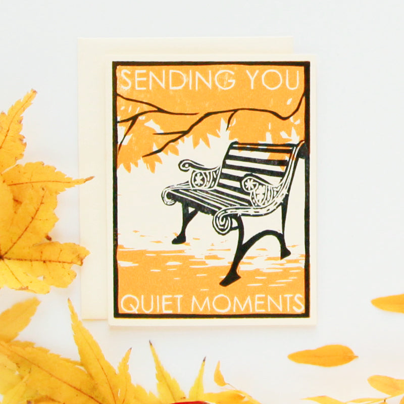 Quiet Moments Letterpress Card