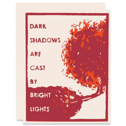 Bright Lights Letterpress Card