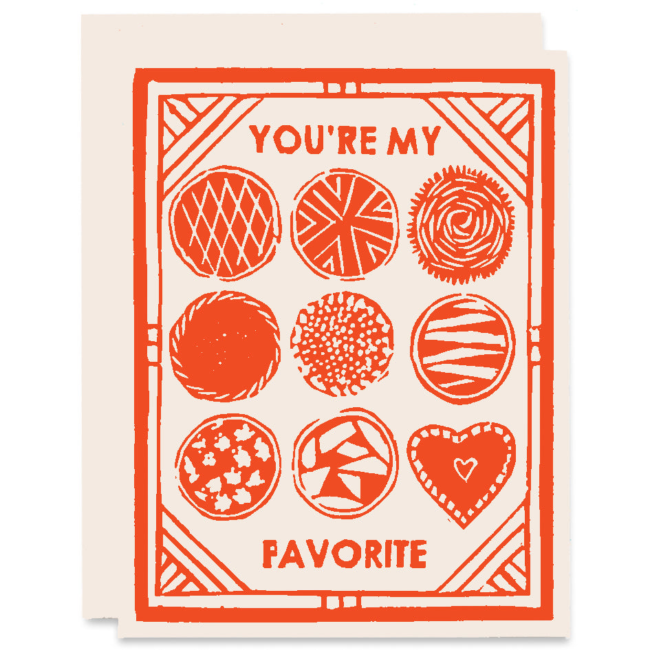 You're My Favorite Letterpress Card
