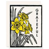 Grateful Daffodils Letterpress Card