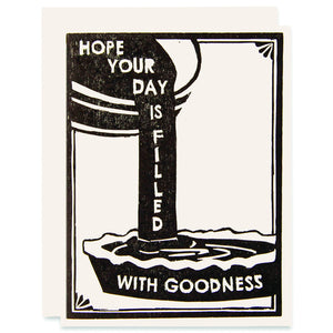Day Full of Goodness Letterpress Card