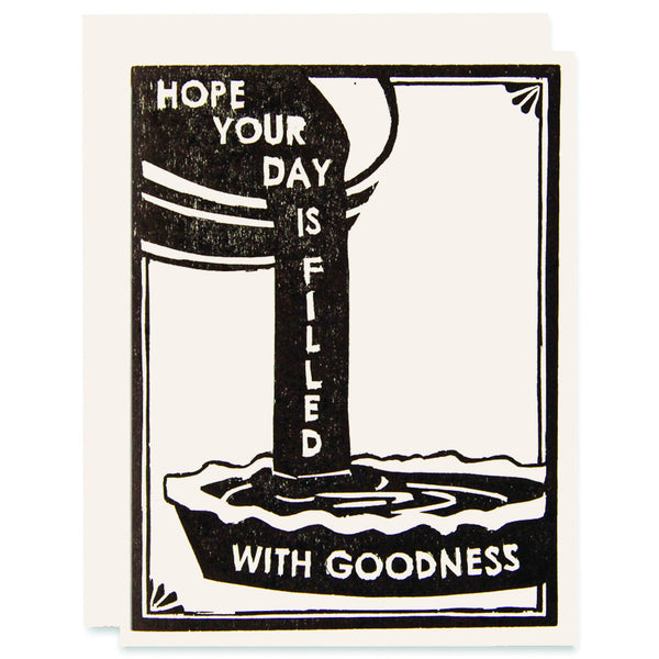 Day Full of Goodness </h6>Letterpress Card