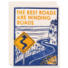 Winding Roads Letterpress Card