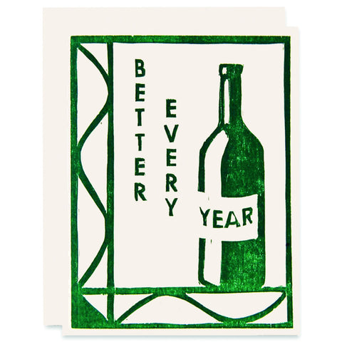 Better Every Year </h6>Letterpress Card