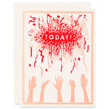 Today, Confetti! </h6>Letterpress Card