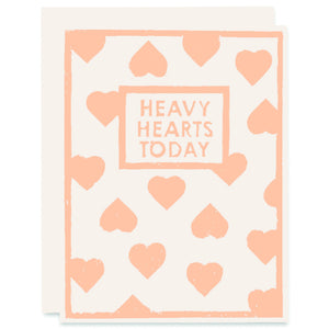 Heavy Hearts Letterpress Card