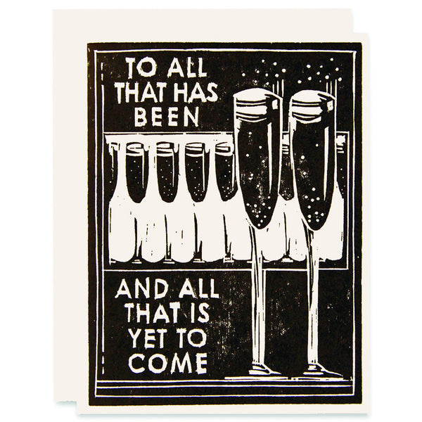 Cheers To It All Letterpress Card