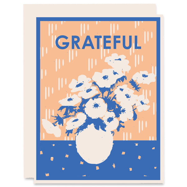 Grateful for Anemonies </h6>Letterpress Card