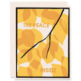 The Peace Inside </h6>Letterpress Card
