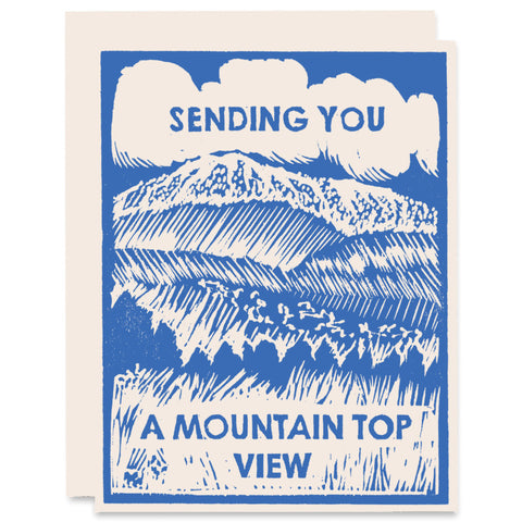 Mountain Top View Letterpress Card