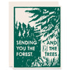 Forest And Trees Letterpress Card