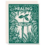 Healing Nurse Tree Letterpress Card