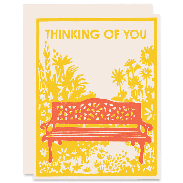 Thinking Of Sunflowers </h6>Letterpress Card