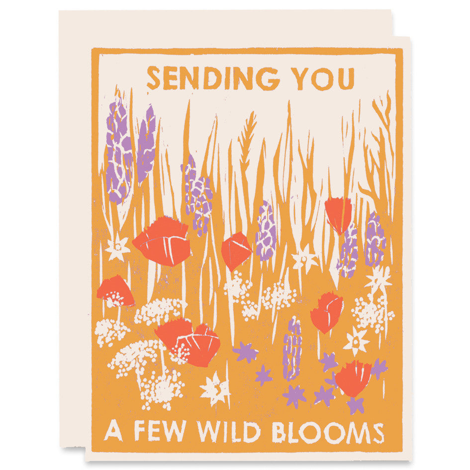 Sending You Wild Blooms Letterpress Card