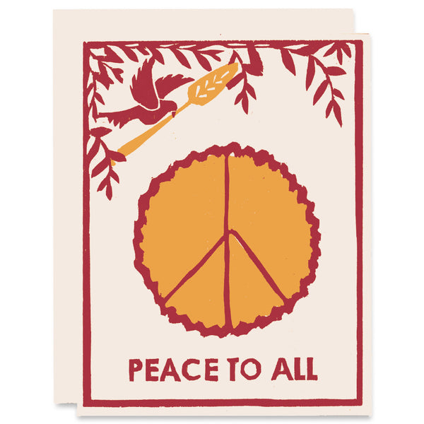 Peace Of Pie </h6>Letterpress Card