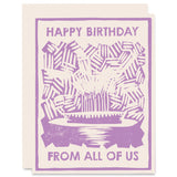 Pie From All Of Us </h6>Letterpress Card