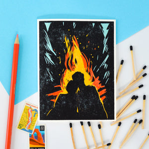 Mine Burns For You Indigo Printed Card